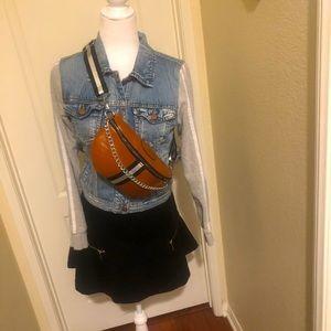 Handbags - Stripe Waist Belt/Shoulder Crossbody Chest Purse